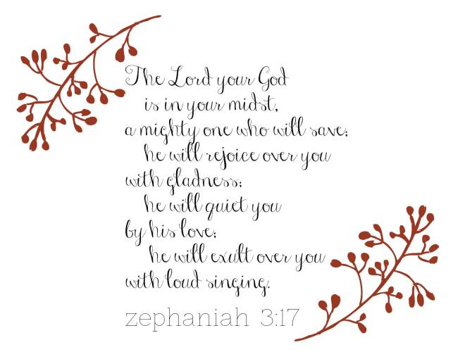 Zephaniah 3:17 // a clear path to my branding