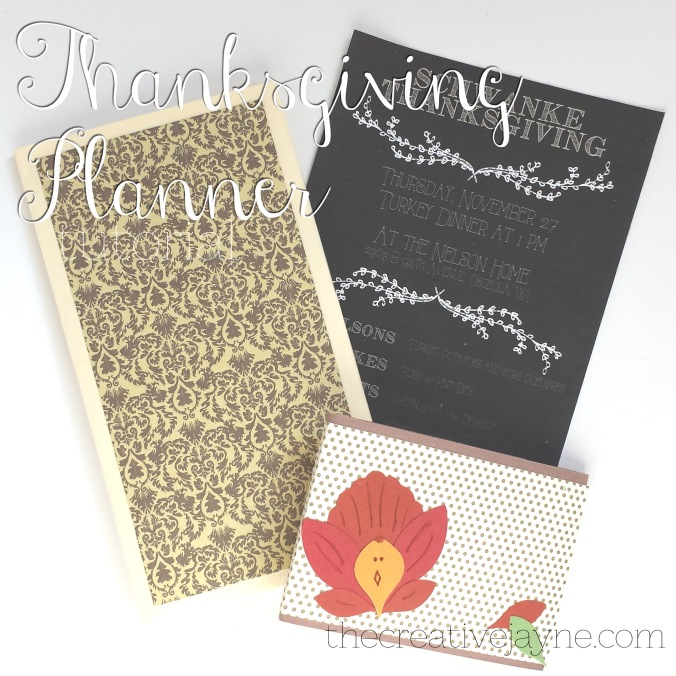 the Creative Jayne // tutorial \ thanksgiving planner