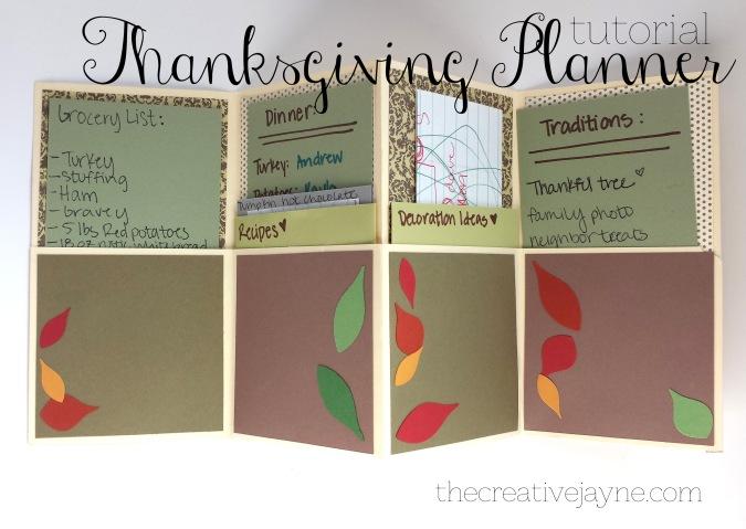 the Creative Jayne // tutorial \ thanksgiving planner