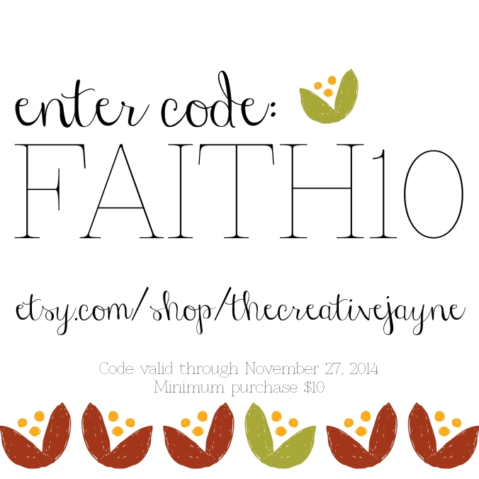 the Creative Jayne // Etsy Code