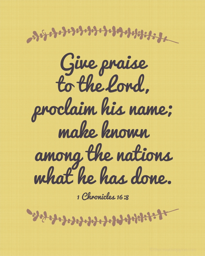 the Creative Jayne // workin mom at home \ Give thanks to the Lord printable