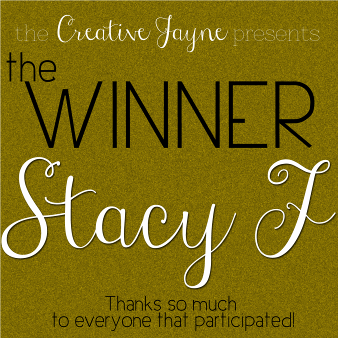 the Creative Jayne // giveaway winner