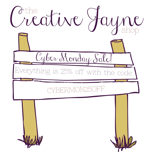the Creative Jayne 25 off Cyber Monday sale