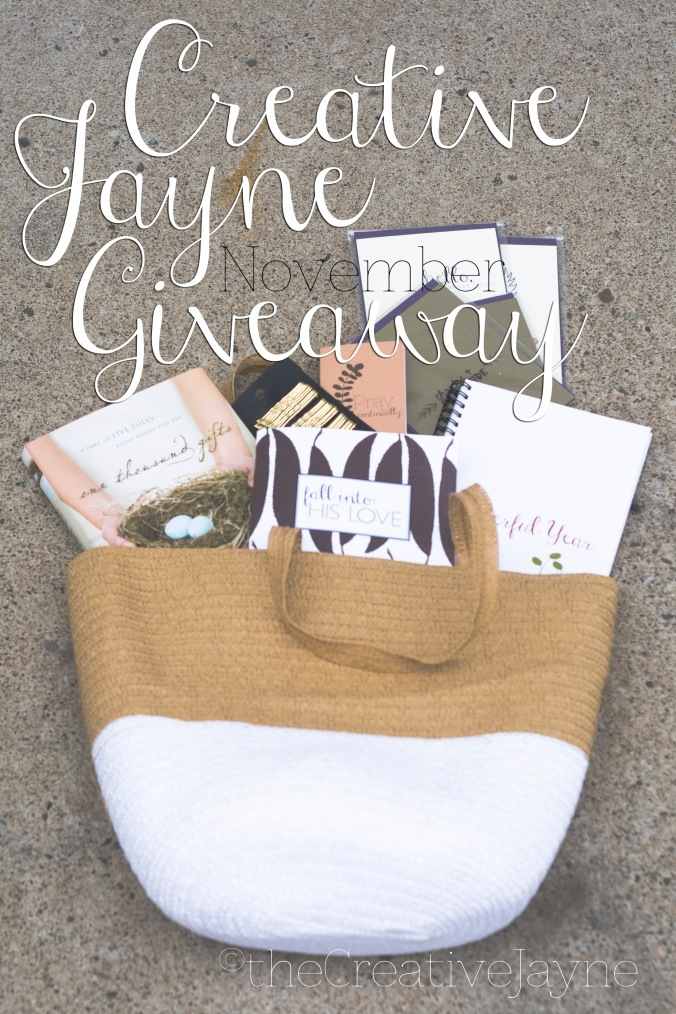 the Creative Jayne giveaway november 2014
