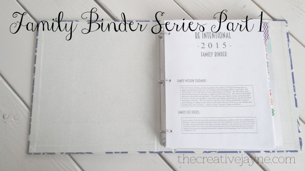 the creative jayne // making a functional family binder // part 1