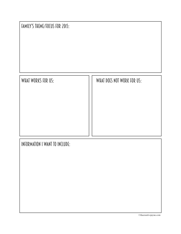 the creative jayne // family binder series \\ binder planner sheet