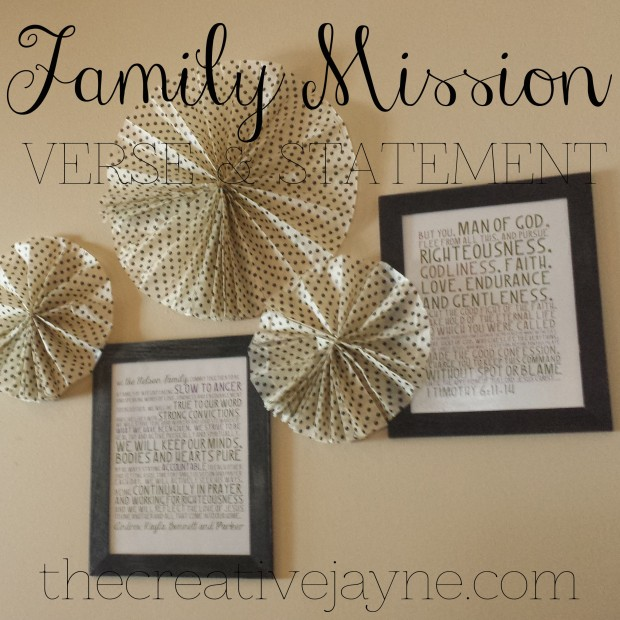 the creative jayne \\ family mission statement and misison verse