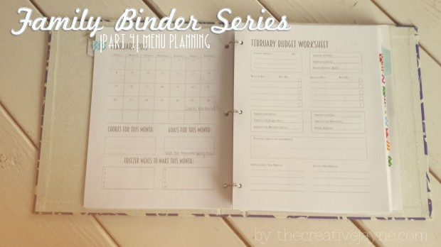 the creative jayne functional family binder meal planning 3