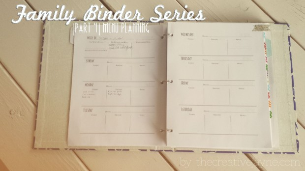 the creative jayne functional family binder meal planning