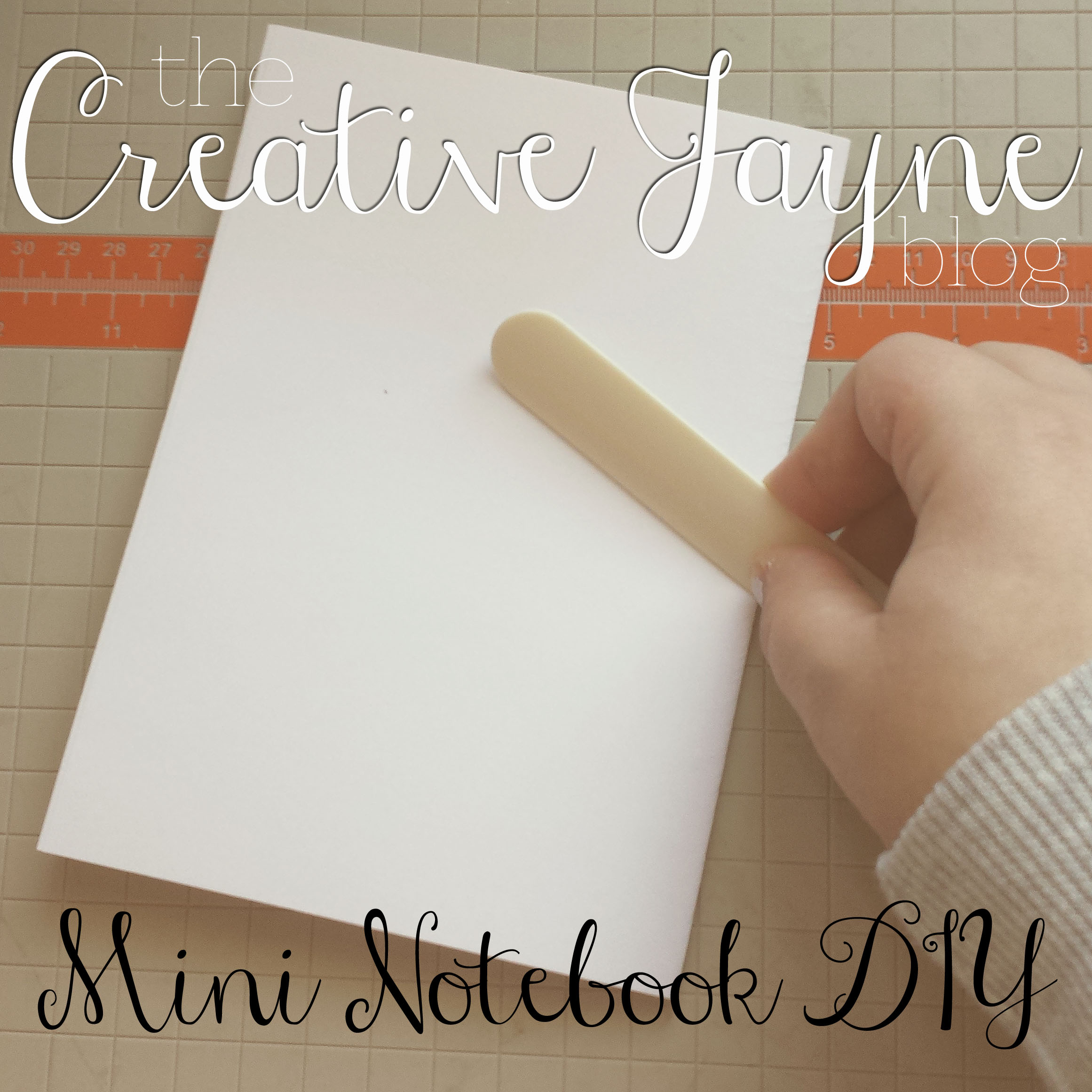 the creative jayne // mini notebook how to