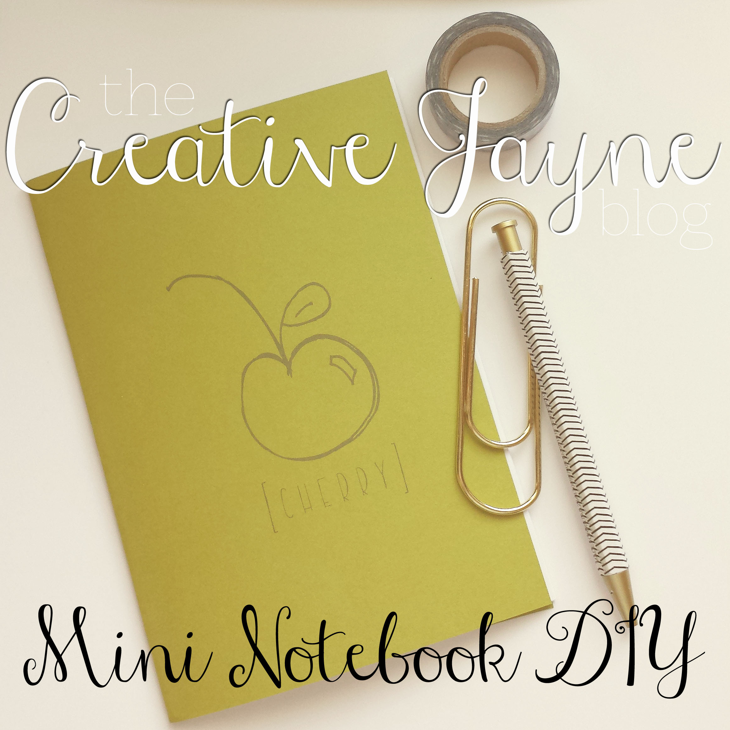 the creative jayne // mini notebook tutorial