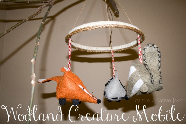 the creative jayne woodland creatures mobile tutorial