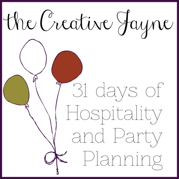 the creative jayne party planning page