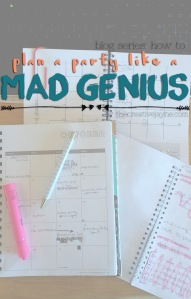 how to plan a party like a mad genius blog series by the creative jayne
