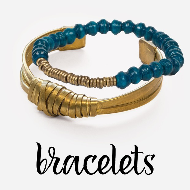 teal safari stack and entwined cuff bracelets by noonday collection