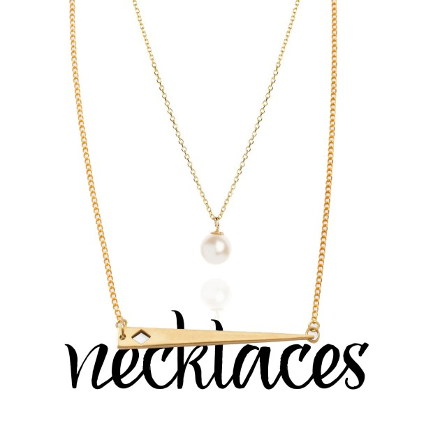 dauntless necklace by noonday collection & drop pearl necklace from rogers and holland